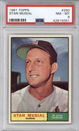 1961 Topps #290 Stan Musial PSA 8 NM-Mint