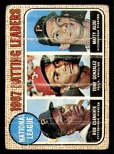1968 Topps #1 Roberto Clemente/Tony Gonzalez/Matty Alou N.L. Batting Leaders Poor  ID: 316996