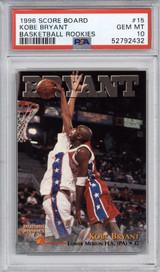 1996-97 Score Board Rookies #15 Kobe Bryant PSA 10 Gem Mint Rookie