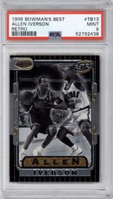 1996-97 Bowman's Best #TB13 Allen Iverson RETRO PSA 9 Mint  ID: 317562