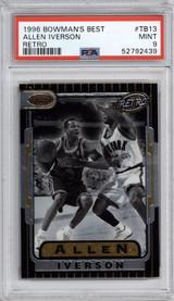 1996-97 Bowman's Best #TB13 Allen Iverson RETRO PSA 9 Mint  ID: 317563