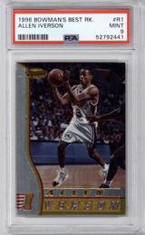 1996-97 Bowman's Best #r1 Allen Iverson PSA 9 Mint