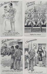 1943/44 Military Humor Exhibits Set 32  #*