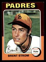 1975 Topps Mini #643 Brent Strom Ex-Mint  ID: 318223