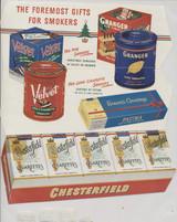 1950's Chesterfield Cigarettes Cartoon Insert Die Cut Glossy Insert  #*