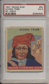 1947 Indian Gum #50 Acoma Tribe PSA 4 VG-EX  #*