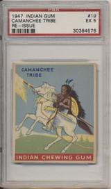 1947 Indian Gum #19 Camanchee Tribe PSA 5 EX  #*