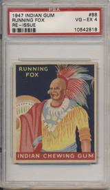 1947 Indian Gum #88 Running Fox PSA 4 VG-EX  #*