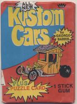 1974 Fleer Kustom Cars Unopened Wax Pack  #*