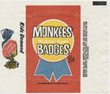 1967 Donruss Monkees Badges 5 Cents Wrapper  #*