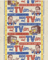 1953 Topps Radio & T V Stars Wrapper  #*