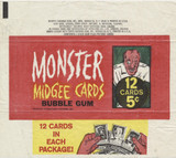1963 Topps Monster Midgee Cards Wrapper 5 Cents  #*