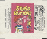 1963 Philly Gum Stupid Buttons 5 Cents Wrapper  #*