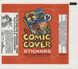 1969 Topps Comic Covers Stickers w/Batman On Front 5 Cents Wrapper  #*