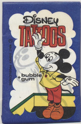 1970's Dandy Gum Denmark Disney Tattoos Mickey Mouse Blue Package Unopened 1 Pack  #