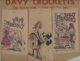 1950's Davy Crockett & Mickey Mouse Iron On Sales Counter Display  #*