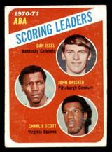 1971-72 Topps #146 Dan Issel/John Brisker/Charlie Scott Scoring Leaders Very Good