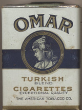 1917 THE AMERICAN TOBACCO CO. OMAR TURKISH BLEND CIGARETTES  #*