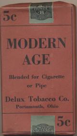 1917 DELUX TOBACCO CO. MODERN AGE CIGARETTES OR PIPE 5 CENT  #*