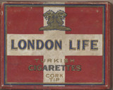 1910 LONDON LIFE TURKISH CIGARETTES CORK TIPS 2 7/8 by 2 1/4 inches  #*