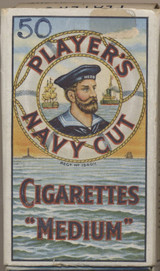 1930'S PLAYERS NAVY CUT CIGARETTES MEDIUM 2 7/8 by 1 5/8 inches  #*