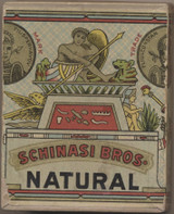 1910 SCHINASI BROS. NATURAL CIGARETTES 2 7/8 by 2 1/4 inches  #*