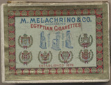 1910 M. MELACHRINO & CO. EGYPTIAN CIGARETTES 2 3/4 by 2 inches  #*