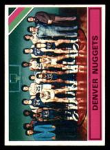1975-76 Topps #321 Denver Nuggets Team card Ex-Mint