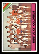 1975-76 Topps #323 Kentucky Colonels Team Card Ex-Mint  ID: 319414