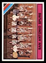 1975-76 Topps #327 San Antonio Spurs Team Card George Gervin/George Karl Ex-Mint