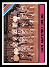1975-76 Topps #327 San Antonio Spurs Team Card George Gervin/George Karl Near Mint