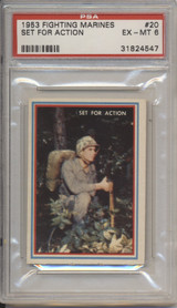 1953 FIGHTING MARINES #20  Set For Action PSA 6 EX-MT  #*