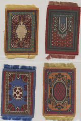 1912-1915 B56-2 Conventional Rugs 3 1/8 by 5 1/4 Inches Lot 11 With Fringe  #*