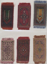 1912-1915 B56-1 Conventional Rugs 2 1/4 by 4 3/8 Inches Lot 49 With Fringe  #*