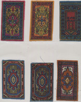 1912-1915 B56-1 Conventional Rugs 2 1/4 by 4 3/8 Inches Lot 6 No Fringe  #*