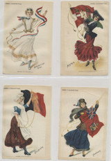 1910 S-59b Flag Girls Of Nations 3 1/2 By 5 Inches Set 24   #*