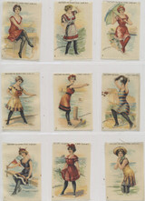 1910 S-56 Bathing Beach Girls Set (25) 2 By 3 Inches  #*