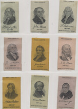 1910 S-77 PRESIDENTS LOT OF (22) 2 X 3 1/4 INCHES  #*