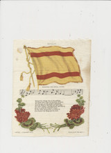 1910 S-40 NATIONAL FLAGS, SONG, & FLOWERS (LARGE 6 BY 7 INCHES) LOT OF 5  #*
