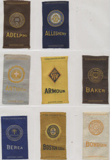 1910 S-25 COLLEGE SEALS LOT OF (90) 2 BY 3 INCHES   #*