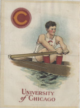 1910 S-21 COLLEGE SERIES SILK UNIVERSITY OF CHICAGO ROWING 5 BY 7 INCHES  #*