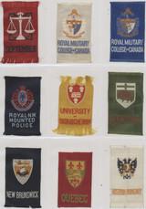 1910-1915 SC12 Canadian Miscellany (Woven Silk) Lot (22)  #*