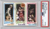 1980-81 Topps Larry Bird/Julius Erving/ Magic Johnson Scoring Leader RC PSA 2 Good
