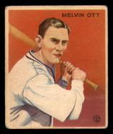 1933 Goudey #207 Mel Ott Very Good RC Rookie