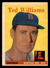 1958 Topps #1 Ted Williams Very Good  ID: 320499