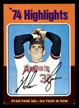1975 Topps Mini #5 Nolan Ryan HL Excellent  ID: 320549