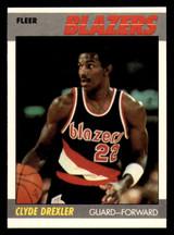 1987-88 Fleer #30 Clyde Drexler Near Mint