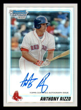 2010 Bowman Chrome Prospects #BCP101 Anthony Rizzo Auto Rookie Mint /500