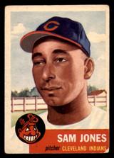 1953 Topps #6 Sam Jones Very Good  ID: 320701