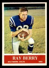 1964 Philadelphia #1 Raymond Berry Very Good